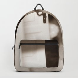 Welcome To Our (Spooky) Home Sepia Backpack