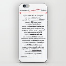 An Abundance of An Abundance of Katherines Anagrams -- John Green iPhone Skin