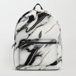Classic White Marble Rose Gold Foil Glam #1 #marble #decor #art #society6 Backpack