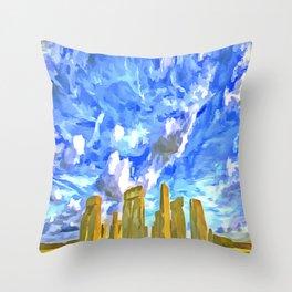 Stonehenge Pop Art Throw Pillow