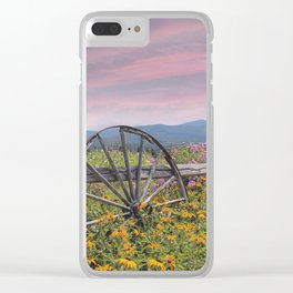 Wagon Wheel Clear iPhone Case