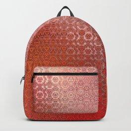 Trinity Pattern (sunset orange) Backpack