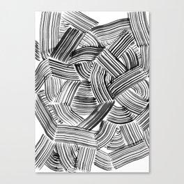 Tangled Brushstrokes Canvas Print