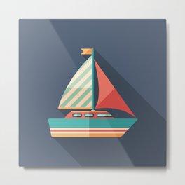 Sailing Yacht Metal Print