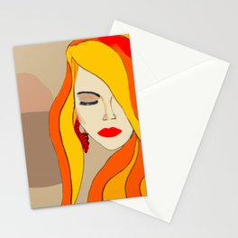 Redhead Beauty 1 Stationery Cards