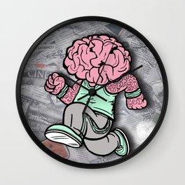 My Mind Races Wall Clock