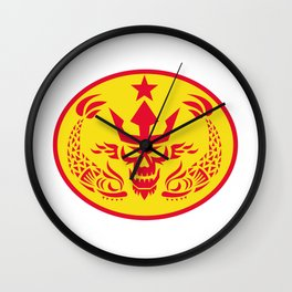 Neptune Skull Fish Star Oval Retro Wall Clock