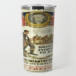 Vintage poster - British Recruiting Travel Mug
