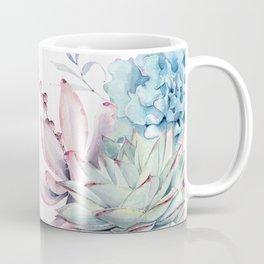 Pretty Pastel Succulents Garden 1 Coffee Mug