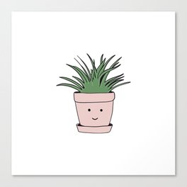 Smiling flowerpot Canvas Print