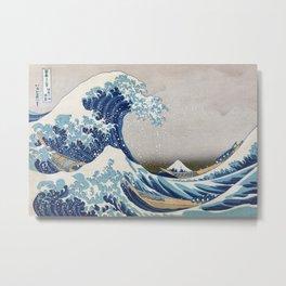 Under the Wave off Kanagawa - The Great Wave - Katsushika Hokusai Metal Print