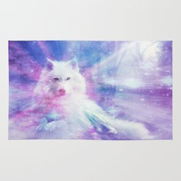 Majestic Wolf Rug