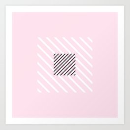 Stripes pattern Art Print