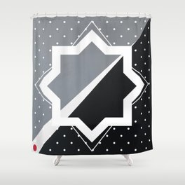 London - star graphic Shower Curtain