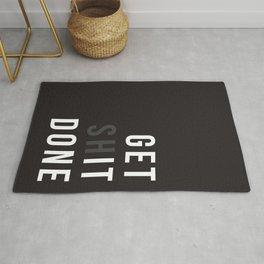 Get Shit Done (Black version) Rug