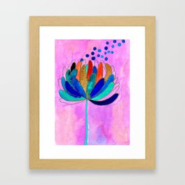 Release - Original Watercolour and Ink Painting from the Garden Framed Art Print