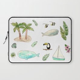 Tropical whales Laptop Sleeve