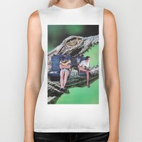 safari Biker Tanks featuring Safari by John Turck
