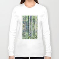 sia Long Sleeve T-shirts featuring SERENE GREEN SCENE by Catspaws