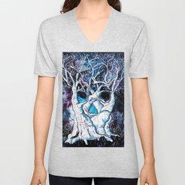 Galaxy Skulltrees. Unisex V-Neck