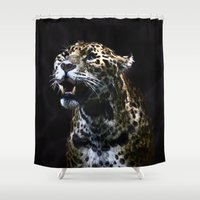 jaguar Shower Curtains featuring  Jaguar  by OnlineGifts
