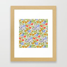 Birds and Wild Blooms Framed Art Print