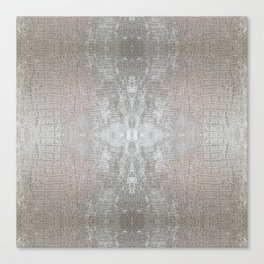 Silver Velvet Snake Pattern Canvas Print