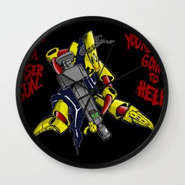 Scud The Disposable Assassin: Jesus with a Laser Gun! Wall Clock