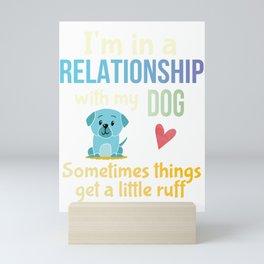 Funny Dog Lovers Pun Dog Owners Joke Gift Mini Art Print