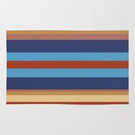 Retro 70s Vintage Surfer - Blue Sand Rug