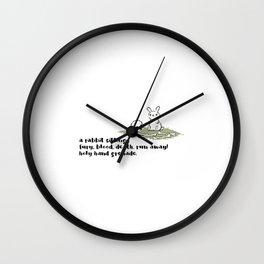 Rabbit Haiku Wall Clock