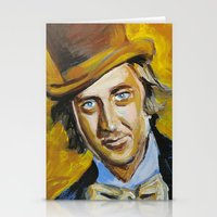 willy wonka Stationery Cards featuring Willy Wonka by Buffalo Bonker