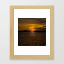 The sun goes down and night falls Framed Art Print