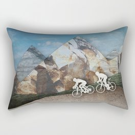 Mountain Biking Rectangular Pillow