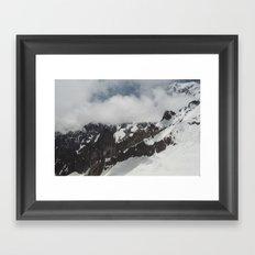 Clouds Shrouding Mont Blanc Framed Art Print