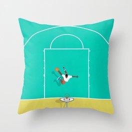 Slam Dunk  Throw Pillow