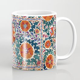 Shakhrisyabz Suzani Uzbekistan Antique Embroidery Print Coffee Mug