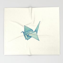 High Hopes | Origami Crane Throw Blanket