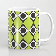 Lime circles & diamond pattern Mug