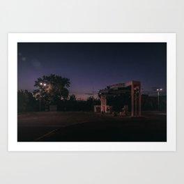 Retro night Art Print