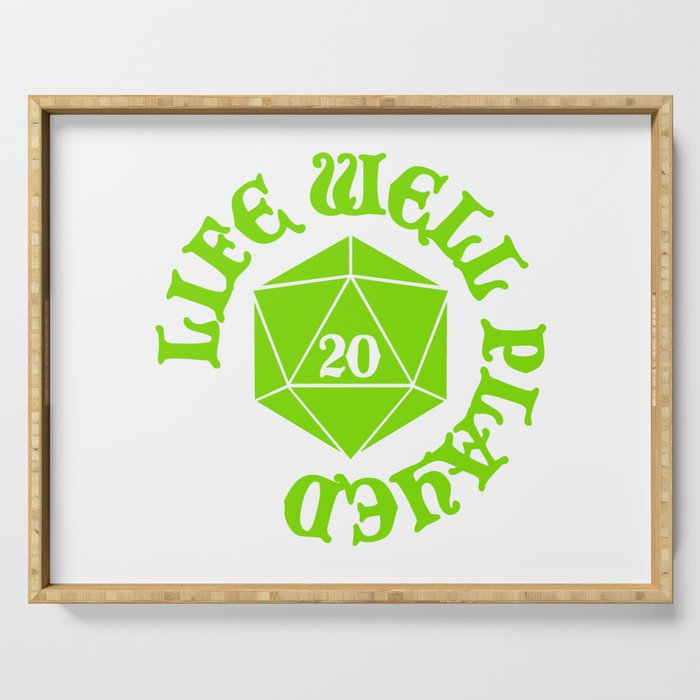 d20 Life Well Played Crit Serving Tray