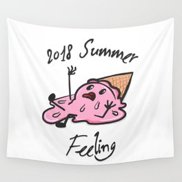 Melting Away - in Extreme Heat Wall Tapestry