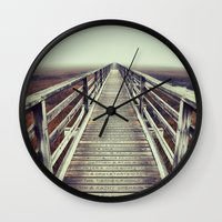 cape cod Wall Clocks featuring Gray's Beach Cape Cod by marie grady palcic