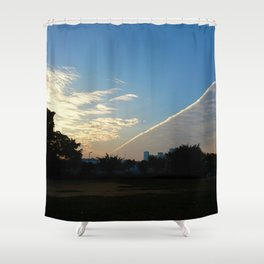 drama in the sky Shower Curtain