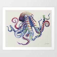 Octopus : Natural Art Print