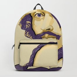 Shakespeare - royal purple and yellow Backpack