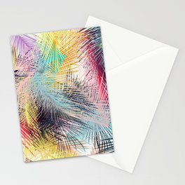 Jungle pampa colorful forest. Tropical fresh forest pattern with palms Stationery Cards