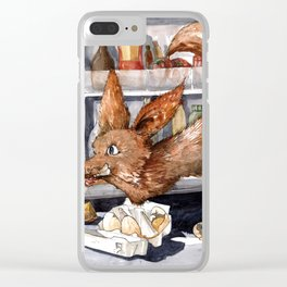 It is the foxy fennec who purged whole fridge Clear iPhone Case