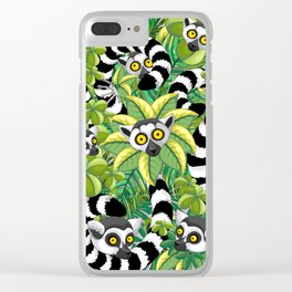 Lemurs on Madagascar Rainforest Clear iPhone Case