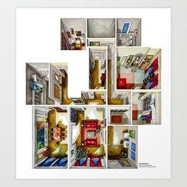 STANLEY KUBRICK's last film. The Harfords apartment Art Print